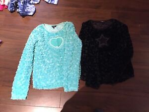 Youth size 16 furry sweaters worn once!