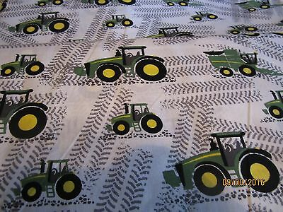 John Deere  baby toddler sheets set  tractors & combines tracks white