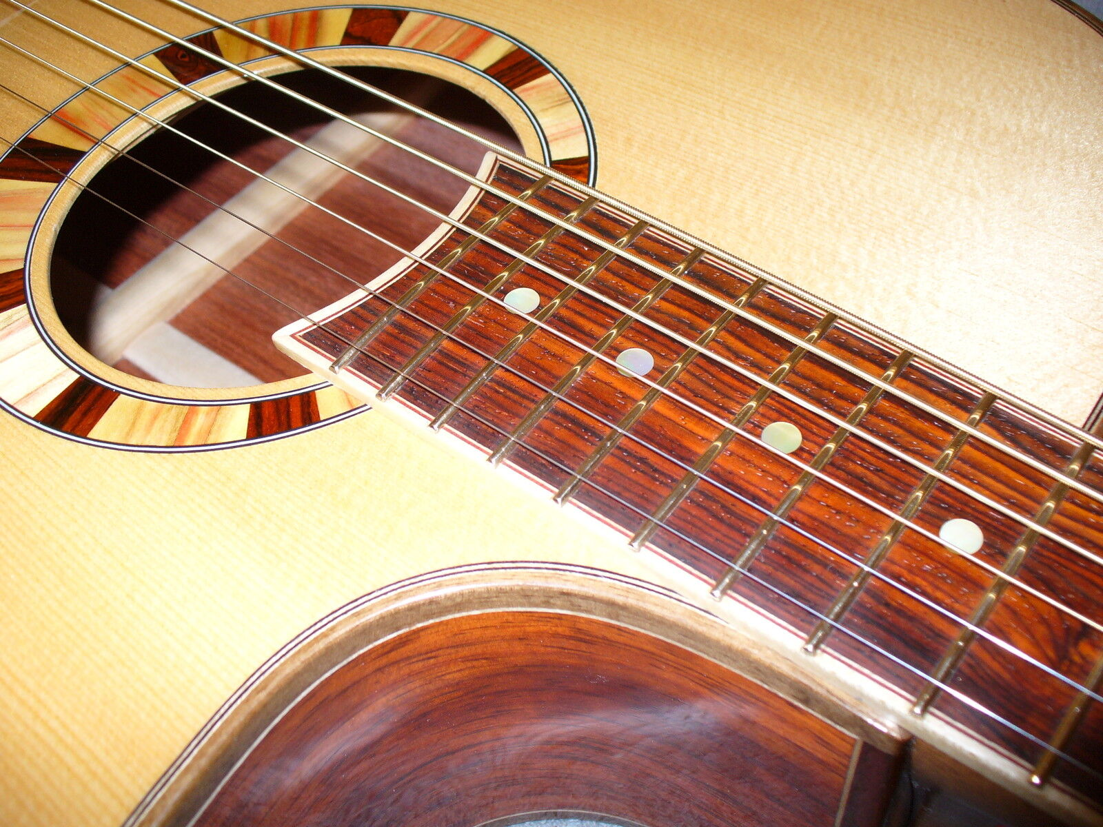 Exotic Wood Guitar Binding