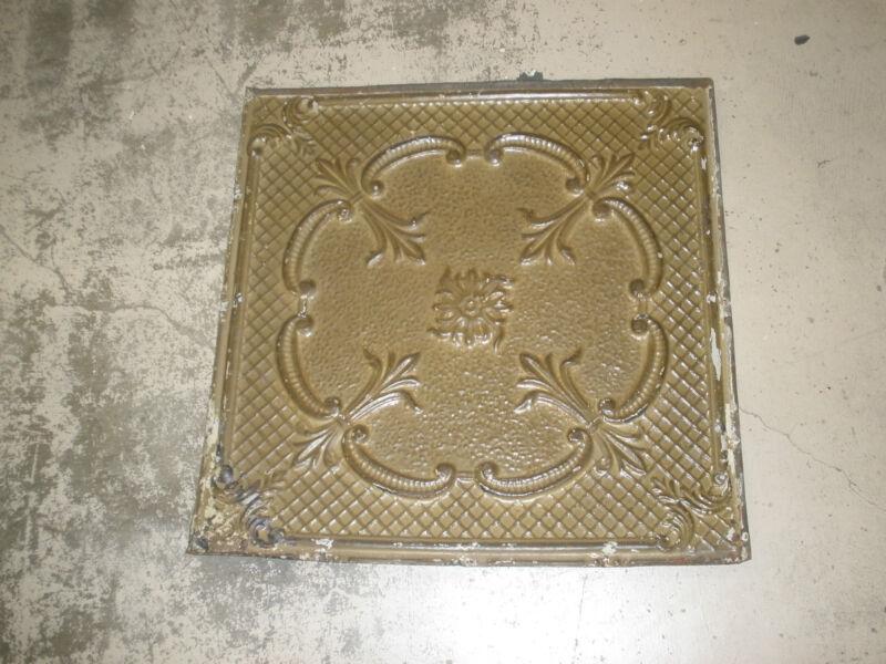 Antique Ceiling Tin-Tile-Vintage-Primitive-Late 1800