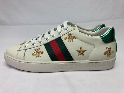 Authentic New in Box Gucci Ace Lace Bee Stars Sneakers 36 US 5.5-6 Shoes