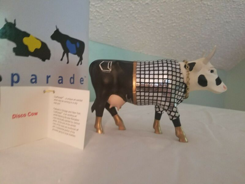 Cow Parade DISCO COW Figurine #9134 w/ Box and tag Westland Collectable