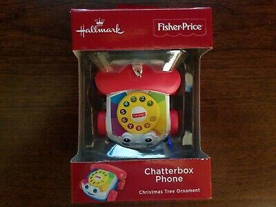 MIB Hallmark FISHER PRICE CHATTERBOX PHONE Ornament - FREE SHIPPING