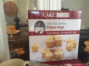 Cake Boss two-tiered dessert server - never used in box