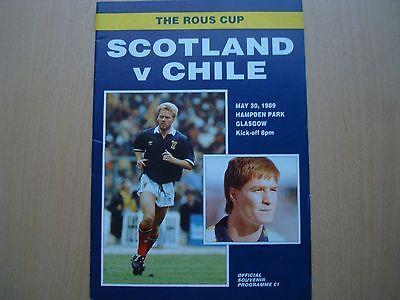 SCOTLAND V CHILE MAY 1989