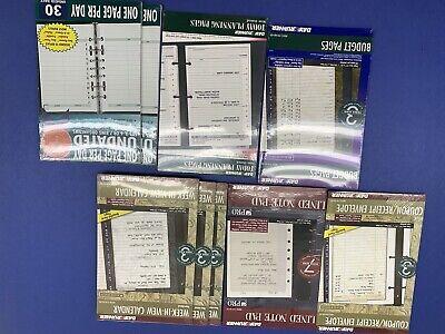 Planner Refill Pages Day Runner Collins Week Calendar Budget Receipt Notepad Lot