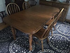 Oak Dining Set (table, chairs & buffet)