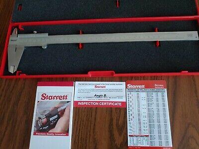 Starrett 125mea-12300 Vernier Caliper Wcase12 In300mm