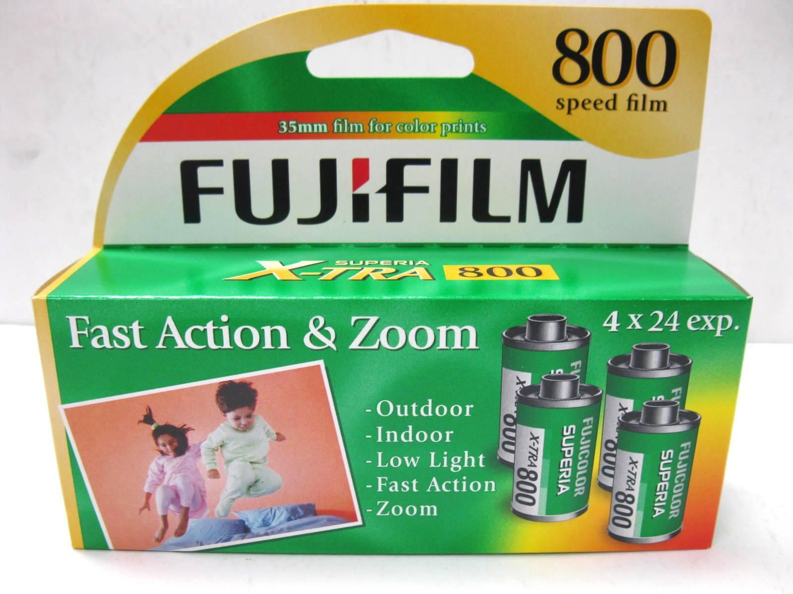 4 Roll Box  Fuji Fujifilm Superia X-TRA 800 24 Exp Color Pri