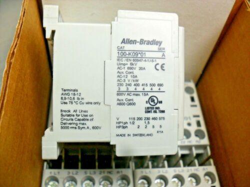 Allen Bradley 100-K09*01 Motor Starter Contactor 24 VDC
