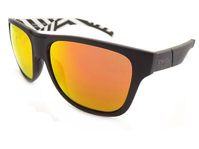 Smith Sonnenbrille Lowdown XL Polarisiert Matt Schwarz/Chromapop Rot Mirror S37