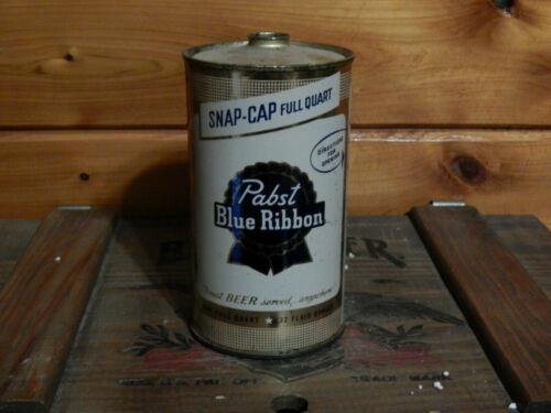 PABST OPEN INSTRUCTION SNAP-CAP QUART CONE TOP BEER CAN(USBC#217-3) MILWAUKEE,WI