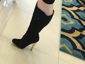 Nine West Knee High Black Boots-  NEW Oxley Park Penrith Area Preview