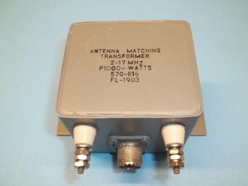 Balun 12:1  (600 to 50 Ohms) voltage Type, 1KW, Vintage 1960 CMC made, FL-1903