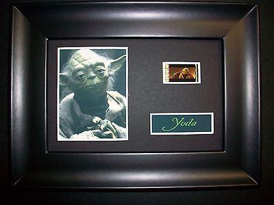 Star Wars YODA Framed Movie Film Cell Memorabilia Rare Fan Collectible
