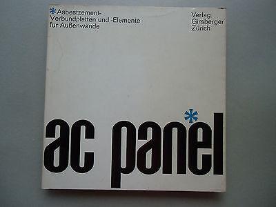 Ac panel Asbestzement- Verbundplatten -Elemente Außenwände 1967