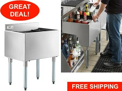 Underbar Stainless Steel Restaurant Bar Ice Bin 77 Lb Ice Capacity Nsf 18 X 24