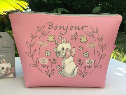 """Disney The Aristocats """"Marie"""" Bonjour Cosmetic Makeup Bag Purse Mad Beauty NWT"""