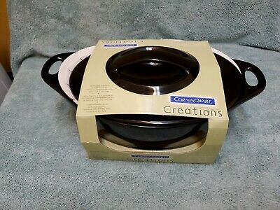 Corning CREATIONS Onyx 2 Quart Oval Casserole -