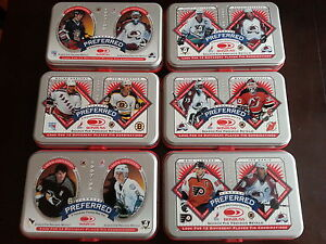 Set of 12 1997/98 DonRuss Preferred NHL Tins