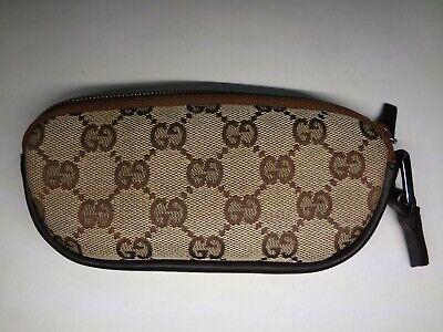 RARE GUCCI GG Monogram Eyeglass/Sunglass Case. Suede Lining.