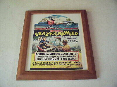 Heddons Crazy Crawler Fishing Lures Advertising Print