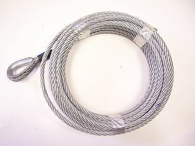 "3/8"" x 100 ft Galvanized Wire Rope Winch Cable, used for sale  Shipping to Canada"