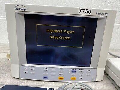 Datascope Passport Xg Patient Monitor Waccessories 7750