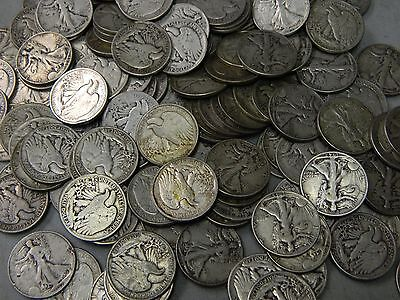 Random Date Walking Liberty Half Dollar 90  Silver Coin Lot From Collection