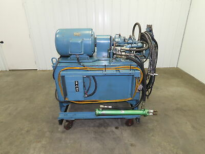 120 Gallon 15 Hp Hydraulic Power Unit Vickers Pvb15 Piston Pump 230460v