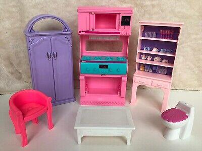 Vintage Barbie So Much To Do Kitchen Dining Living Room Bedroom 1994 Furniture