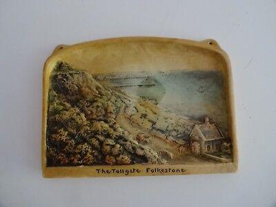 "IVOREX ARTHUR OSBORNE "" The Tollgate Folkestone"" Made in  England 3D Plaque"