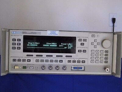 Agilenthp 83620a Synthesized Sweeper10 Mhz - 20 Ghz Opt001 Nist Cal 80817