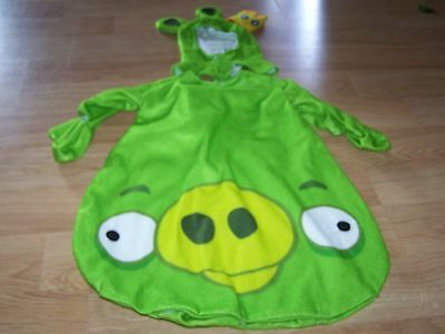 Infant Size 0-9 Months Angry Birds King Pig Green Halloween Costume Bunting New - Angry Birds Green Pig Halloween Costume