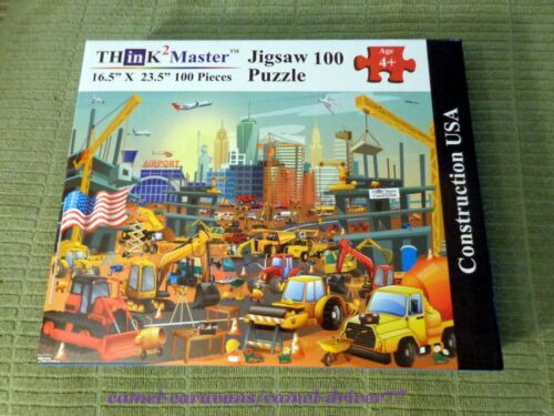 THinK2Master 100 Piece KIDS Jigsaw Puzzle CONSTRUCTION USA Seek & Find FUN