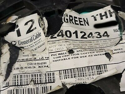 General Cable 12awg 19 Stranded Thhnthwn-2mtw Building Wire Green 100ft