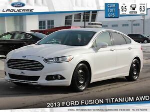 2013 Ford Fusion TITANIUM**AWD*CUIR*GPS*CAMERA*BLUETOOTH**