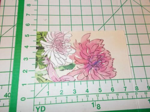"""Two Decorative Hostess Napkins for Decoupage """"Watercolor Mums"""""""