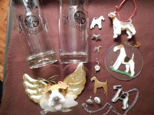 Wire Hair Fox Terrier Jackpot of jewelry, ornaments and more! Sold all together!