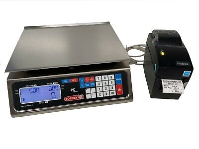 Torrey Pc-40 40 X .01lb Price Computing Deli Meat Scale Godex Dt2 Label Printer