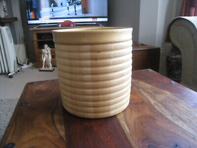LOVELY LARGE  VINTAGE  WOODEN ICE BUCKET  GREAT CONDITION