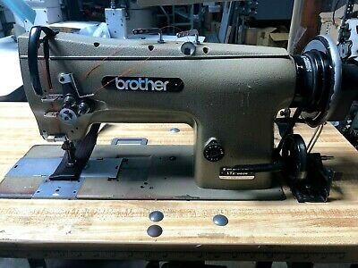 Brother Lt2-b838 Double Needle Walking Foot Used Sewing Machine Complete