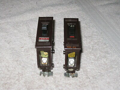 1 Wadsworth A120 20 Amp 1 Pole 120240v Metal Tab Circuit Breaker