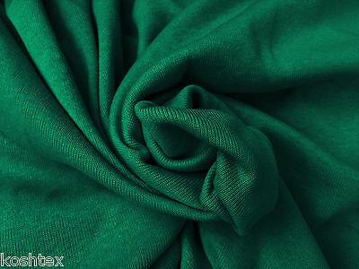 ( Rib 1x1 Knit Cotton Fabric Tubular by the Yard - Jade)