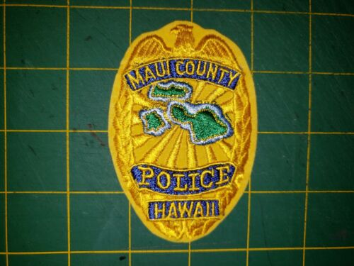 STATE OF HAWAII SHERIFF POLICE PATCH MAUI COUNTY OLD AND HARD TO FIND HI