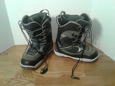 Men's Snowboard Step In Snowboard Boots Zuma Black Gray Size 8 Black Grey
