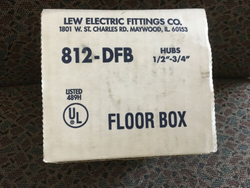 NEW - Lew Electric 812-DFB Floor Box