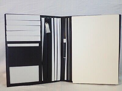Links Of London Black Leather Creditbusiness Card Holder Folio W A5 Paper Pad