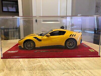1/18 BBR Ferrari F12 TDF Giallo Modena/Blu Scozia Carbon with Stripe Limited 22