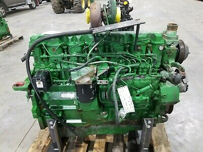 John Deere 7710 Good Used Runner Engine 6081trw01 Rg6081t028930
